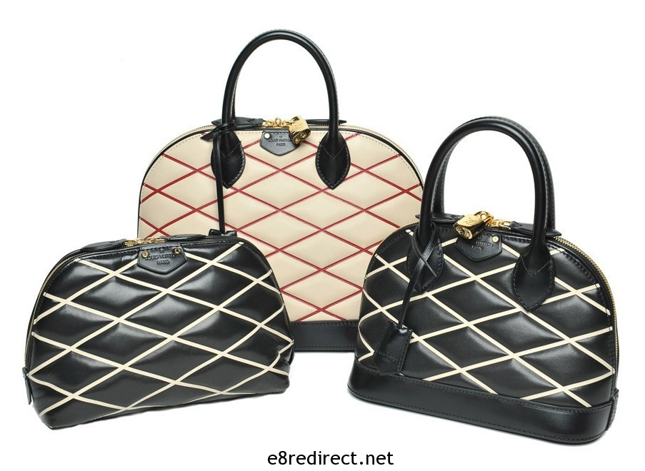Louis Vuitton Losange Alma and Pouch Bags Fall 2014 e1399681045115 - Replica Louis Vuitton Fall/Winter 2014 Bag Names and Prices