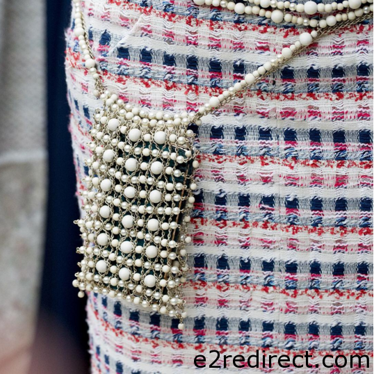 Chanel Pearl Belt Bag - Chanel Spring Summer 2016 Haute Couture Pouch