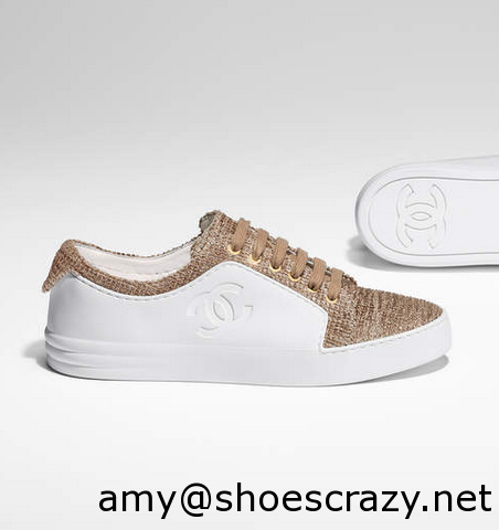 Chanel WhiteRed CalfskinVelvet Sneakers 3 - Chanel Sneakers From Pre Fall 2017 Collection