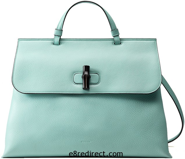 Gucci Leather Top Handle 4 - Gucci Bamboo Daily Leather Top Handle Bag Replica