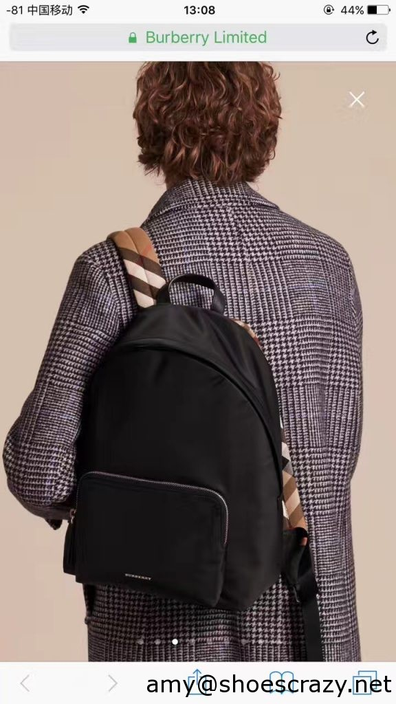 IMG 0128 576x1024 - Burberry Leather Trim Technical Backpack Bag 2017