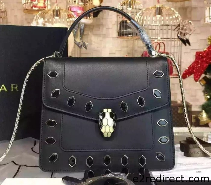IMG 0217 cr 700x615 - Bvlgari Serpenti Forever Flap Cover Bag Embellished with Onyx 2015