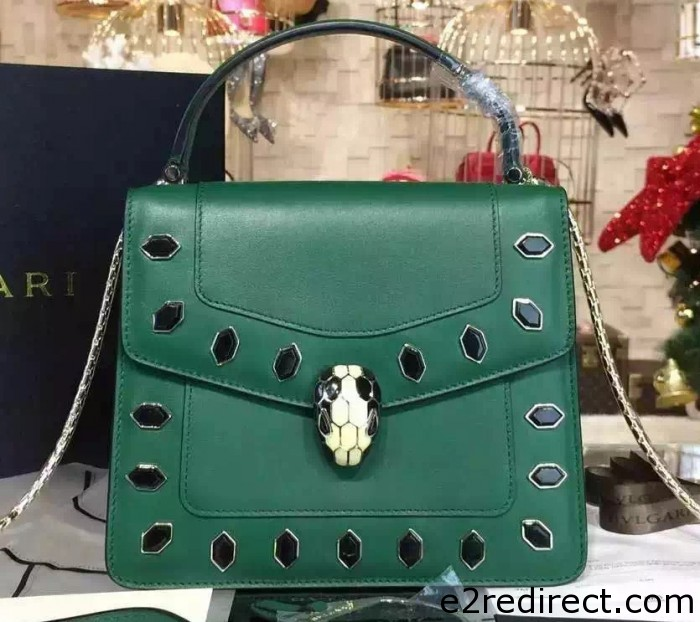 IMG 0227 cr 700x622 - Bvlgari Serpenti Forever Flap Cover Bag Embellished with Onyx 2015