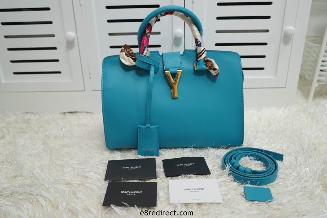 IMG 0613 - Saint Laurent Classic Cabas Y Small Bag 311210B Leather 2014 Replica Sale
