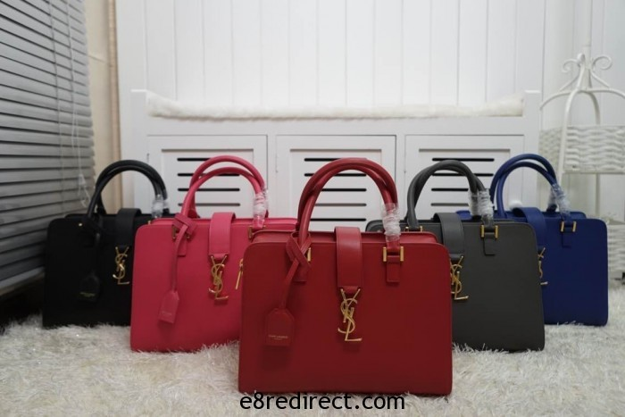 IMG 0624 700x467 - Saint Laurent Cabas Monogram Top Handle Small Bag 357395B Leather 2014 Available