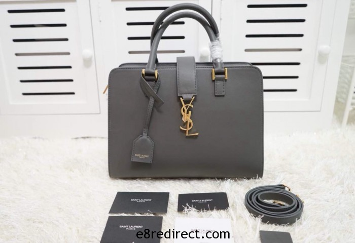 IMG 0654 700x480 - Saint Laurent Cabas Monogram Top Handle Small Bag 357395B Leather 2014 Available