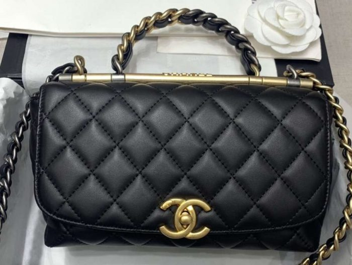 IMG 200303a 235 cr 700x528 - Chanel Frame Flap Bag with Chain Top Handle 2020