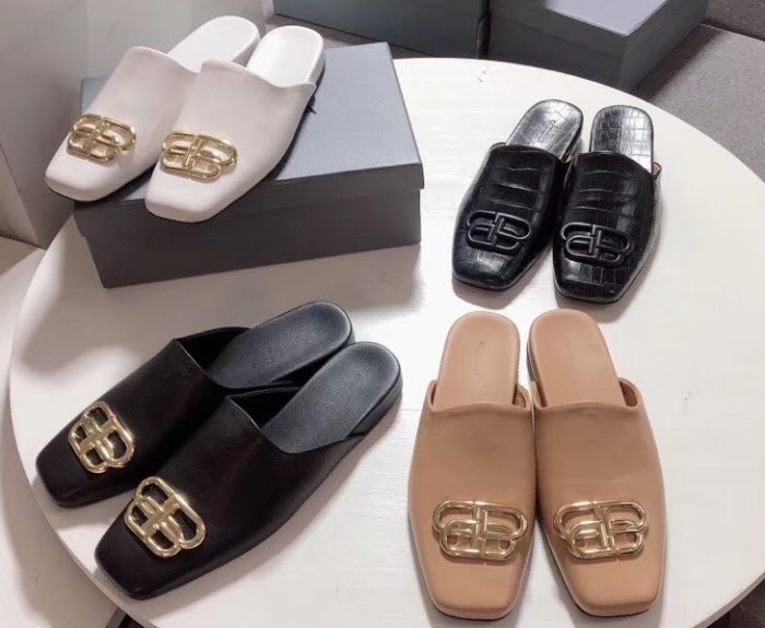 IMG 200421s 294 cr 700x575 - Balenciaga Cosy BB Flat Mules Slides Slippers 2020