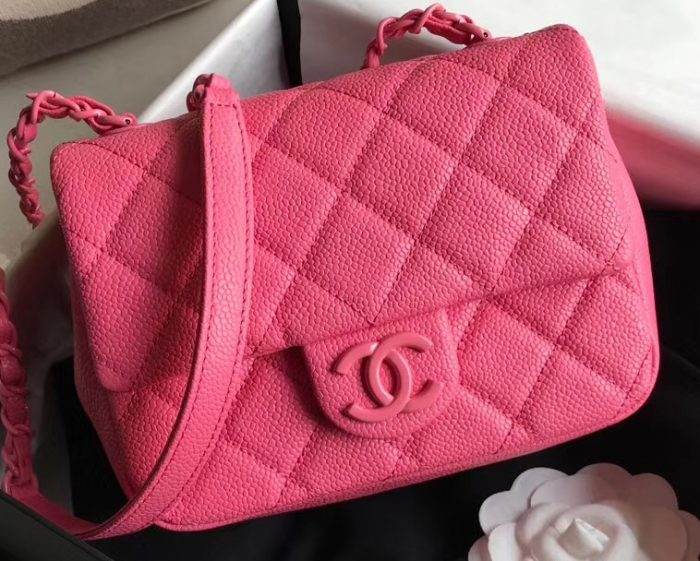 IMG 200426a 89 cr 700x561 - Chanel Matte Hardware Grained Calfskin Flap Bag AS1784 2020