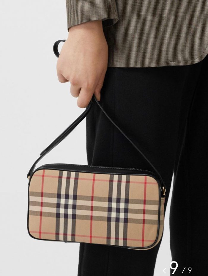 IMG 200715a 61 700x928 - Burberry Small Vintage Check and Leather Camera Bag 2020