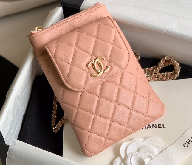 IMG 200722a 557 ccr - Chanel Phone Holder with Chain Bag AP1191 2020