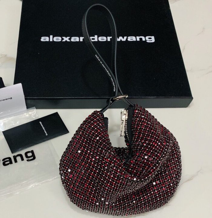IMG 200729a 133 ccr 700x720 - Alexander Wang Wangloc Fortune Cookie Bag With Crystal Rhinestone Chain Mesh