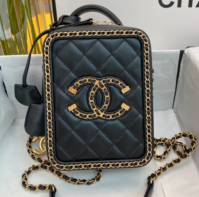 IMG 200917c 618 cr 700x692 - Chanel Chain CC Filigree Clutch with Chain Vanity Case Bag 2020