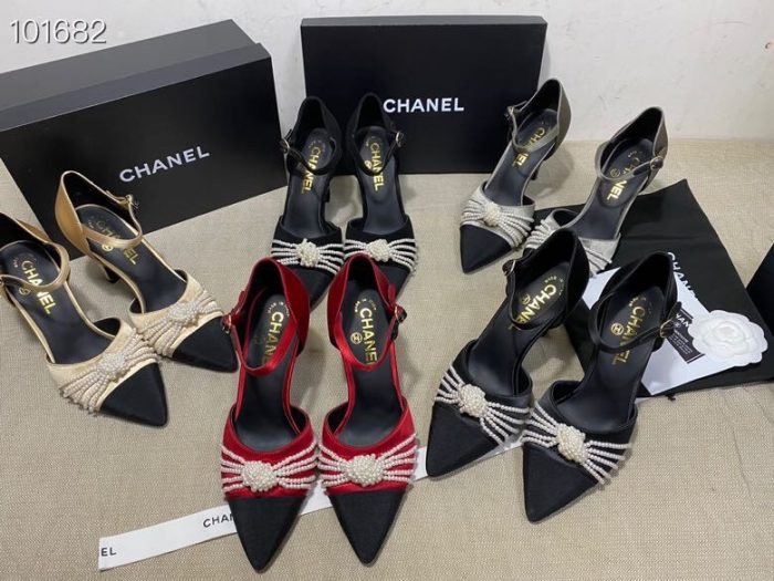 IMG 200922yy3 20 700x525 - Chanel Heel 7.5cm Pearl Bow Satin and Grosgrain Pumps with Straps G36466 2020