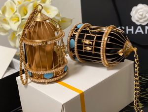 IMG 201126a 3 cr 300x226 - Chanel Lambskin Enamel and Strass Birdcage Evening Bag AS1941 2020