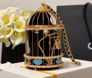 IMG 201126a 5 cr 300x255 - Chanel Lambskin Enamel and Strass Birdcage Evening Bag AS1941 2020