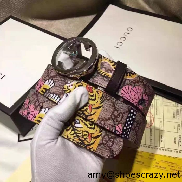 IMG 2550 1 700x700 - Gucci Width 3.5cm GG Canvas Embroidered Belt