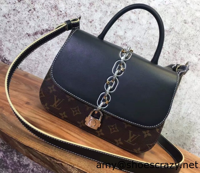 IMG 2932 cr3 700x608 - Louis Vuitton Chain and Lock Top Handle Bag Spring 2017
