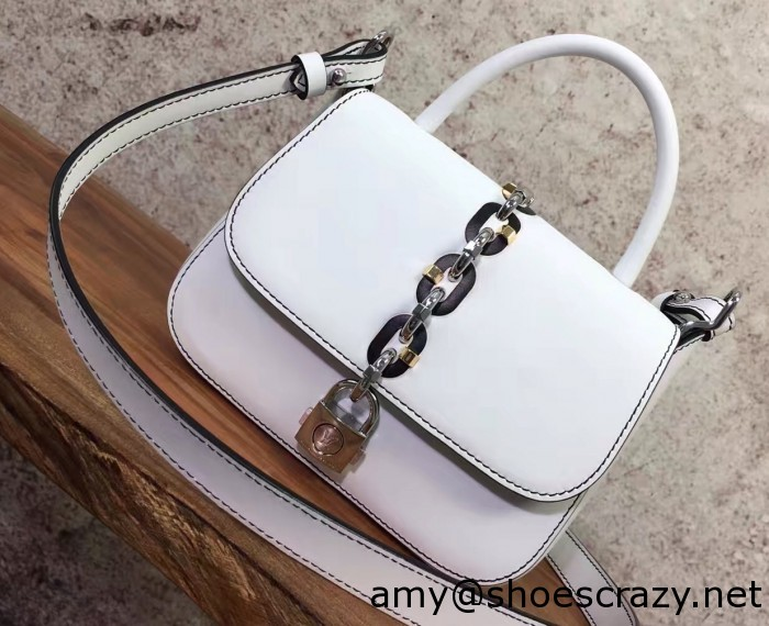 IMG 2995 cr1 700x570 - Louis Vuitton Chain and Lock Top Handle Bag Spring 2017