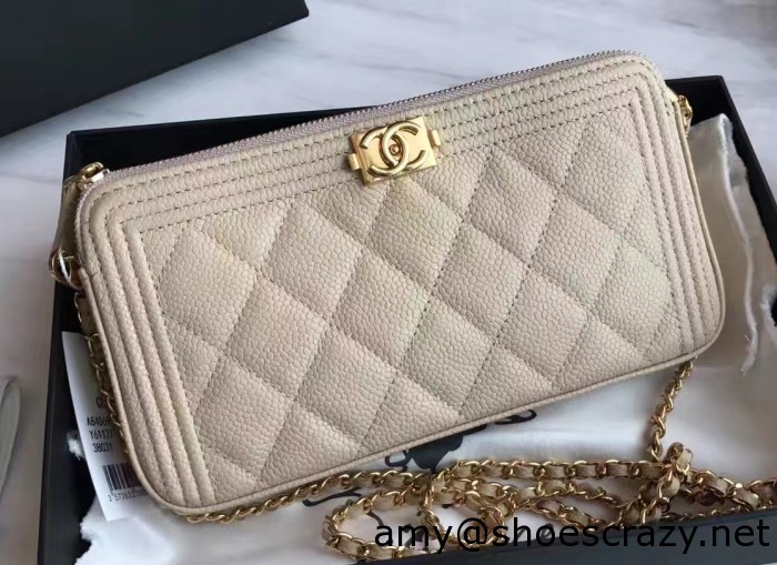 IMG 3208 cr1 700x509 - Chanel Double Zipped Small Clutch Chain Bag A84069 2017