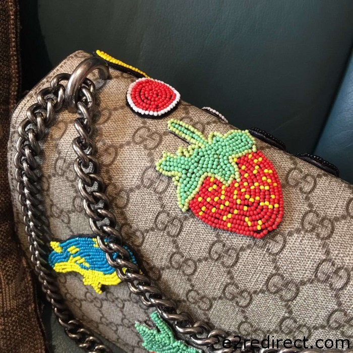 IMG 34191 700x700 - Gucci Dionysus GG Supreme Bird and Butterfly Beaded Shoulder Bag 400249 2016