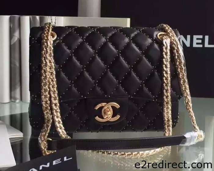 IMG 4078 cr 700x559 - Chanel Embroidery with Gold Thread Classic Flap Bag 2015