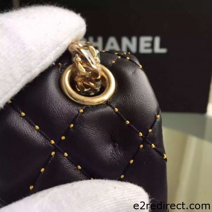 IMG 4082 700x700 - Chanel Embroidery with Gold Thread Classic Flap Bag 2015