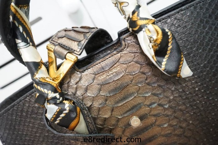 IMG 5049 700x467 - Saint Laurent Classic Cabas Y Small Bag Snakeskin Leather 2014