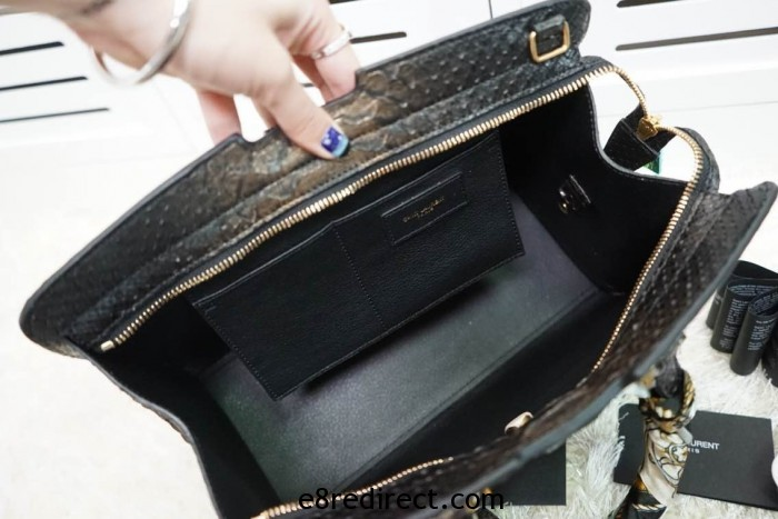 IMG 5052 700x467 - Saint Laurent Classic Cabas Y Small Bag Snakeskin Leather 2014