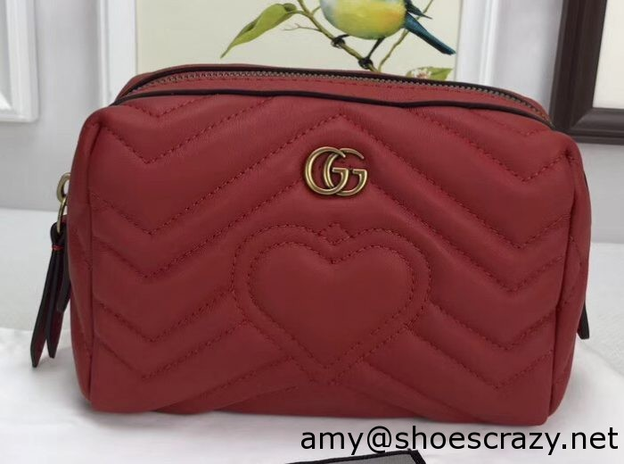 IMG 6645 cr 1 700x520 - Gucci GG Marmont Cosmetic Case Bag 476165 2017