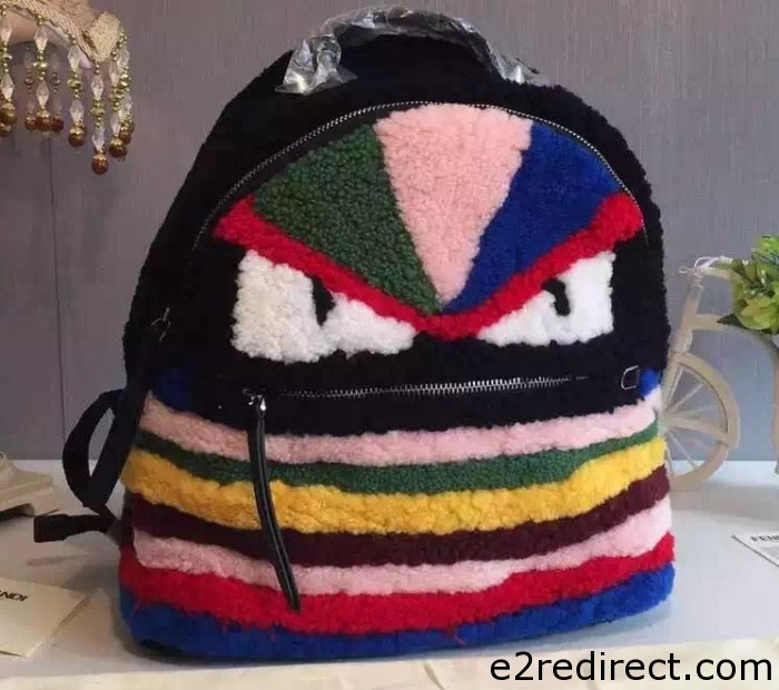 IMG 6648 cr 700x620 - Fendi Monster Backpack Shearling Multicolor 2015/2016 Available
