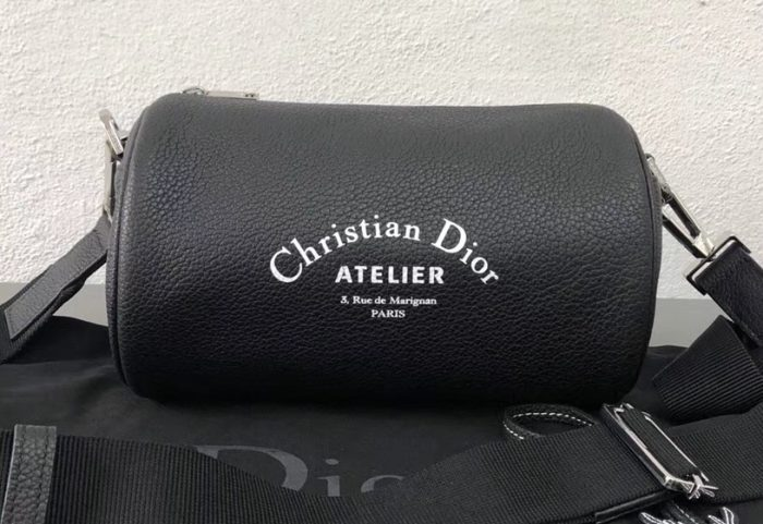 IMG 7150 cr 700x481 - Dior Christian Dior Atelier Print Roller Pouch Shoulder Bag In Grained Calfskin 2018