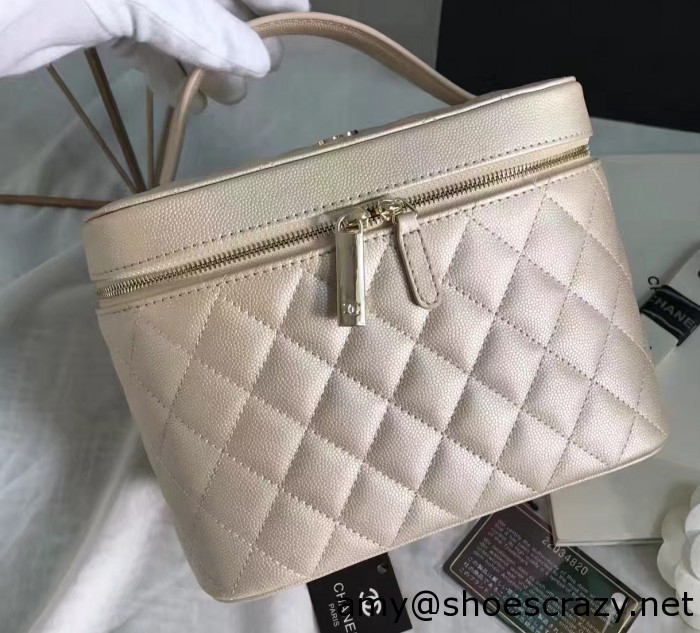 IMG 7536 cr 700x633 - Chanel Grained Calfskin Vanity Case Pouch Bag A80913 2016