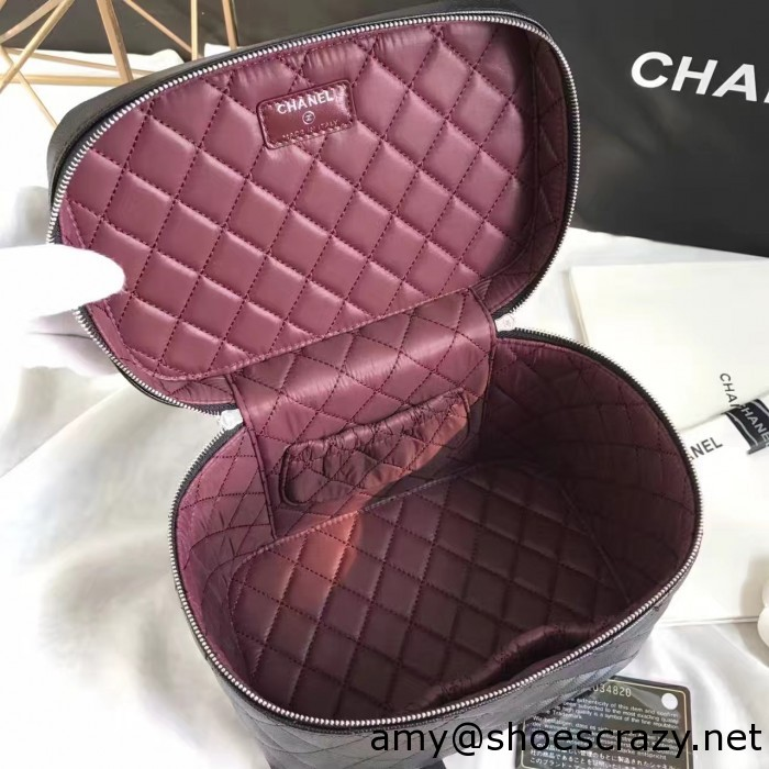 IMG 7595 700x700 - Chanel Grained Calfskin Vanity Case Pouch Bag A80913 2016