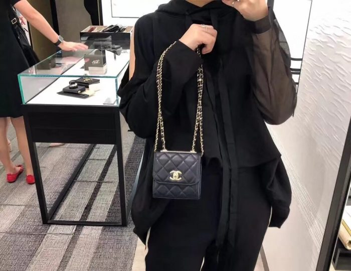 IMG 81122a 76 700x540 - Chanel Trendy CC Mini Clutch with Chain Bag A81633 2018