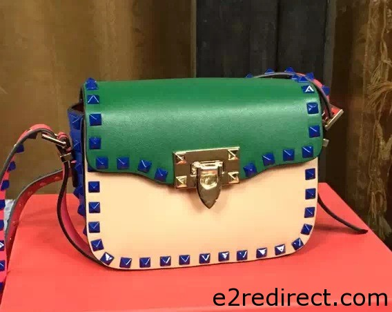 IMG 8249 cr - Valentino Rockstud Round Flap Shoulder Small Bag 2015/2016