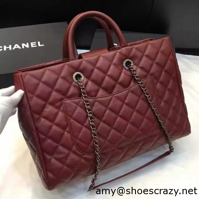 IMG 82681 700x700 - Chanel Quilted Grained Calfskin Large Shopping Bag A93525 2016