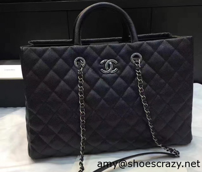 IMG 8272 cr 700x595 - Chanel Quilted Grained Calfskin Large Shopping Bag A93525 2016