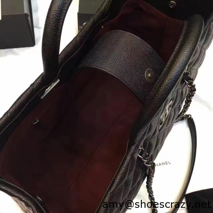 IMG 82801 700x700 - Chanel Quilted Grained Calfskin Large Shopping Bag A93525 2016