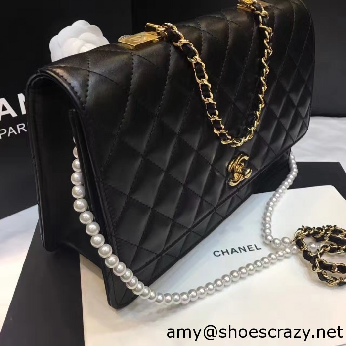 IMG 8287 700x700 - Chanel Lambskin with Fantasy Pearls Large Evening Flap Bag A98572 2016