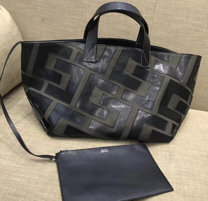 IMG 8771 cr 700x678 - Celine Textile and Leather Patchwork Tote Bag 2018