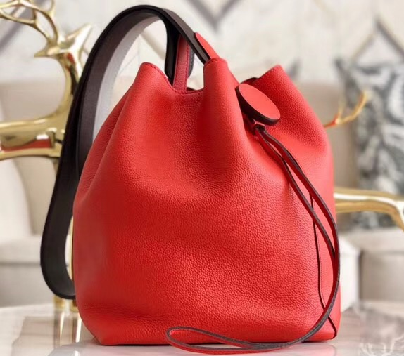 IMG 90628h2 1 cr - Hermes Licol 17 Bucket Bag In Evercolor Calfskin Bicolor Leather 2019