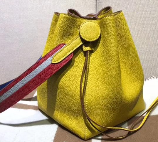 IMG 90628h2 46 cr - Hermes Licol 17 Bucket Bag In Evercolor Calfskin Bicolor Leather 2019