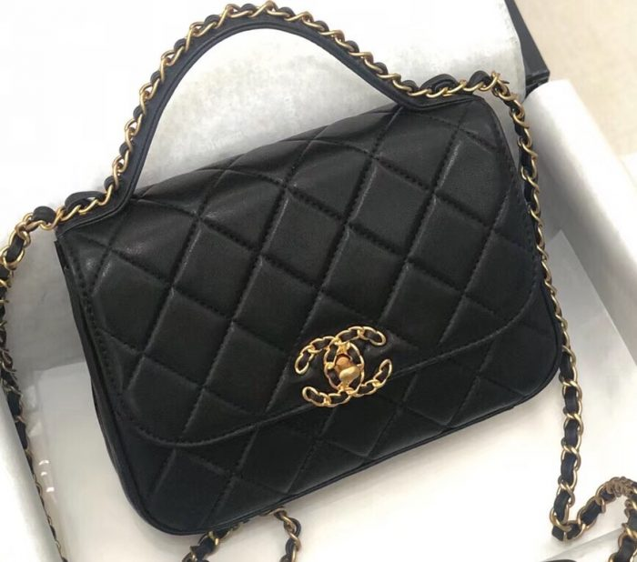 IMG 90822a 89 cr 700x618 - Chanel Chain Infinity Flap with Top Handle Small Bag 2019