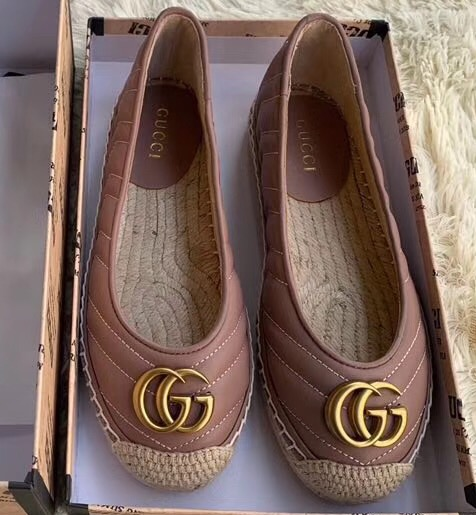 IMG 91122a 114 cr - Gucci Leather Espadrilles With Double G 602505 2019