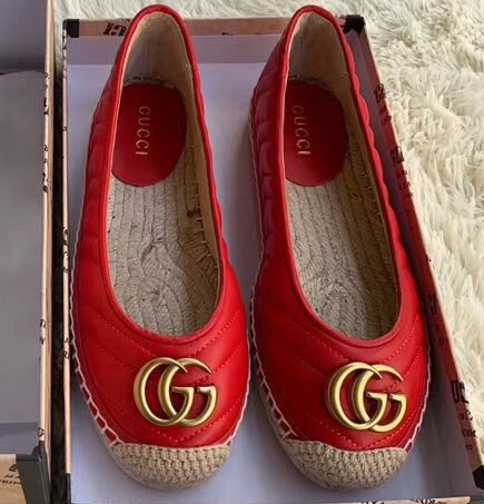 IMG 91122a 123 cr - Gucci Leather Espadrilles With Double G 602505 2019