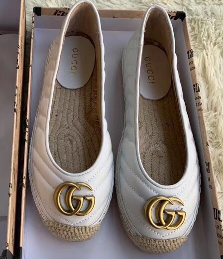 IMG 91122a 78 cr - Gucci Leather Espadrilles With Double G 602505 2019