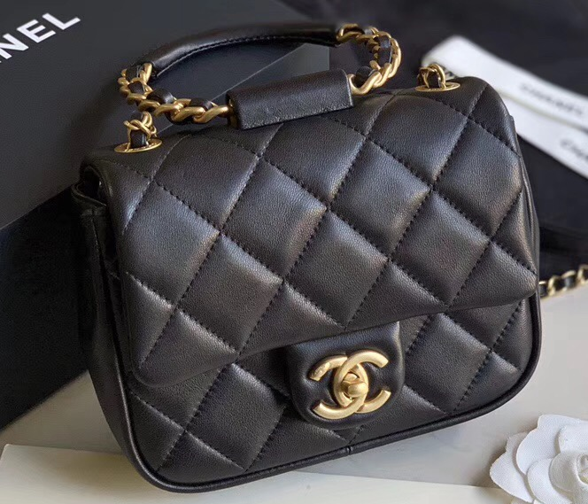 IMG 91209c 151 cr - Chanel Flap Bag with Circle Handle 2020