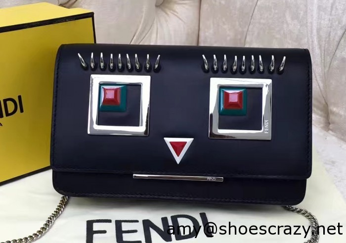 IMG 9437 cr1 700x491 - Fendi Multicolored Metal and Square Eyes Bag 2017