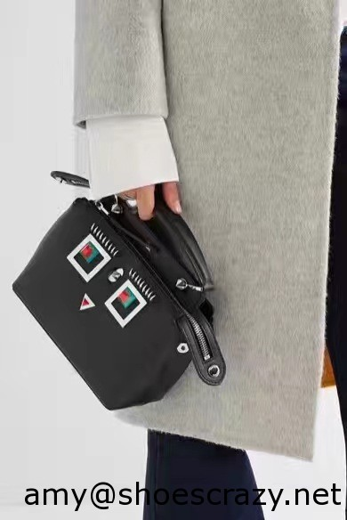 IMG 95401 - Fendi Multicolored Metal and Square Eyes Bag 2017